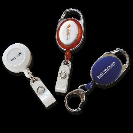 Schlüssel Jojo Ausweis Clip Schlüsselanhänger ausziehbar Kartenhalter Karabiner